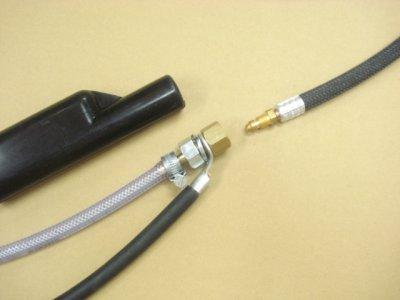 画像1: 新ダイワSTW201DW専用150Aトーチ接続アダプター(ゴムカバー付)