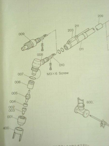 画像1: 日立PTP-51用 カーブド型トーチボディ (1)