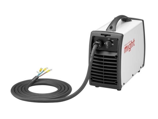 画像1: マイト工業 インバーター直流アーク溶接機 単相200V (一次線コネクタ取付+延長15Mx2本付) (1)