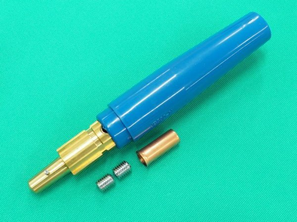 画像1: ケーブルジョィント(青色)オス 500A  (1)