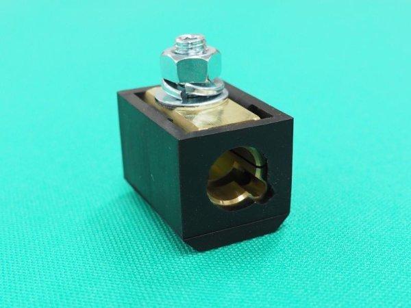 画像1: 三立電器 溶接機用ターミナルジョィント 黒ゴム付(メス側)   (1)