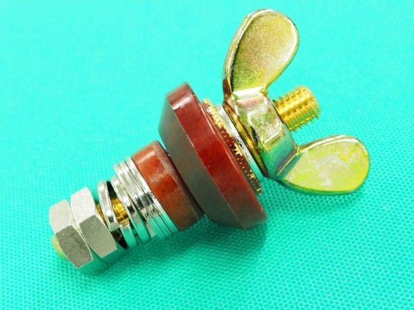 画像1: デンヨーエンジン溶接機用二次側端子 (1)