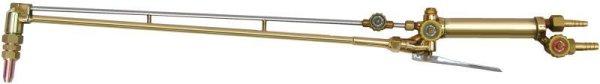 画像1: 頭45度 A号切断器 レバー式 高圧調整バルブ付(ガス種・火口有無選択) (1)