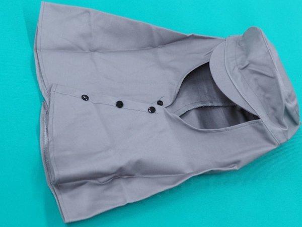 画像1: 防炎製品 ツバ付グレー天丸頭巾 FH-2304 (1)