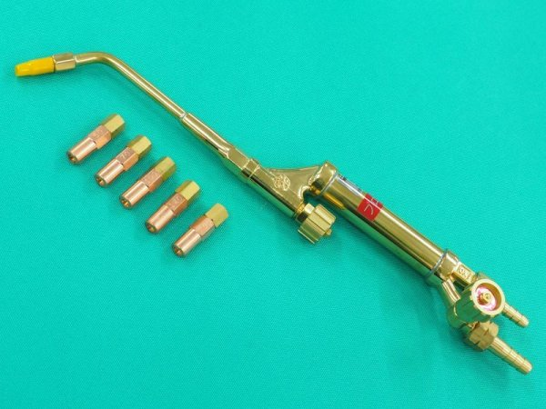 画像1: 阪口製 酸素・プロパン用小型ガス溶接器・火口5個付  (1)