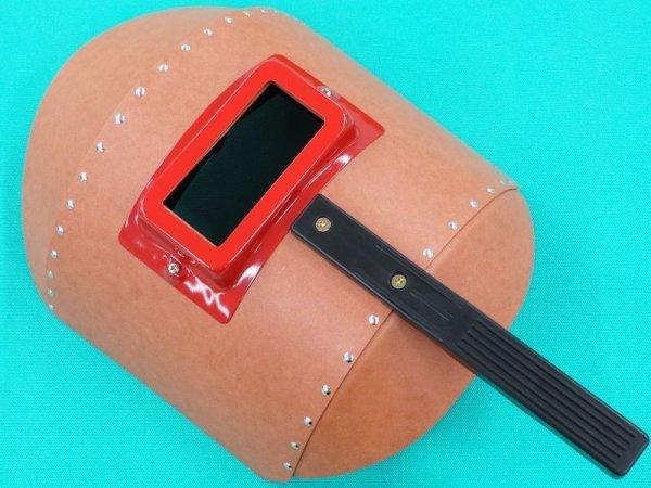画像1: 手持面 リベッティング遮光面(ファイバー製・耐水性) H001 丸面H型 (1)