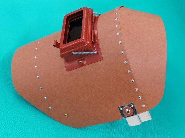 画像1: 被り面リベッティング遮光面(ファイバー製・耐水性)No.H005 (1)