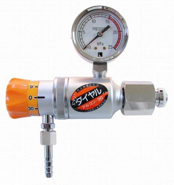 画像1: ダイヤル式流量調整器 アルゴン・30(容器用) (1)