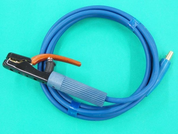 画像1: カラーホルダー線  青色・JA300オス付  (1)