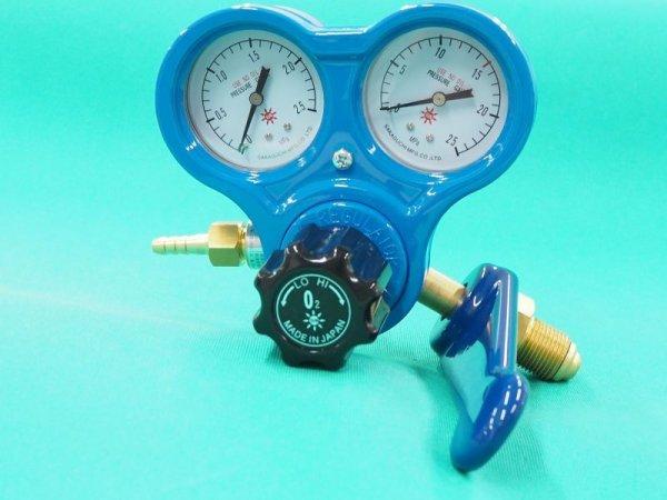 画像1: 酸素調整器 逆火防止内蔵 関西式 SG-3S スパナ付 (1)