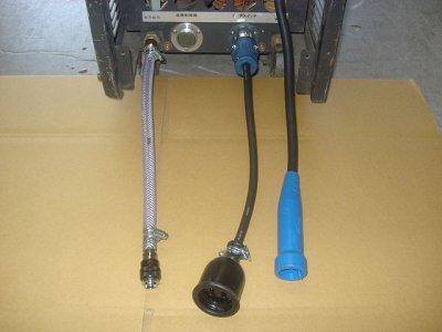 画像1: TIG用口出線=ガス出口ホースジョィント(#33964)(#36201)+ホース 30cm+カチット