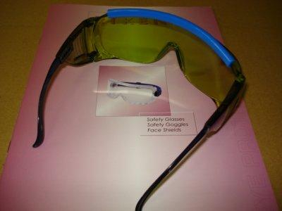 画像1: 保護メガネ 薄いグリーン色