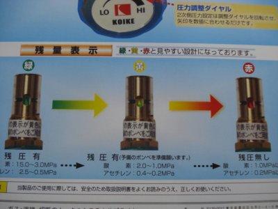 画像1: SAFETYゲージレス調整器1号G式 酸素 関東式