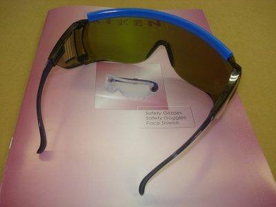 画像1: 保護メガネ グリーン色